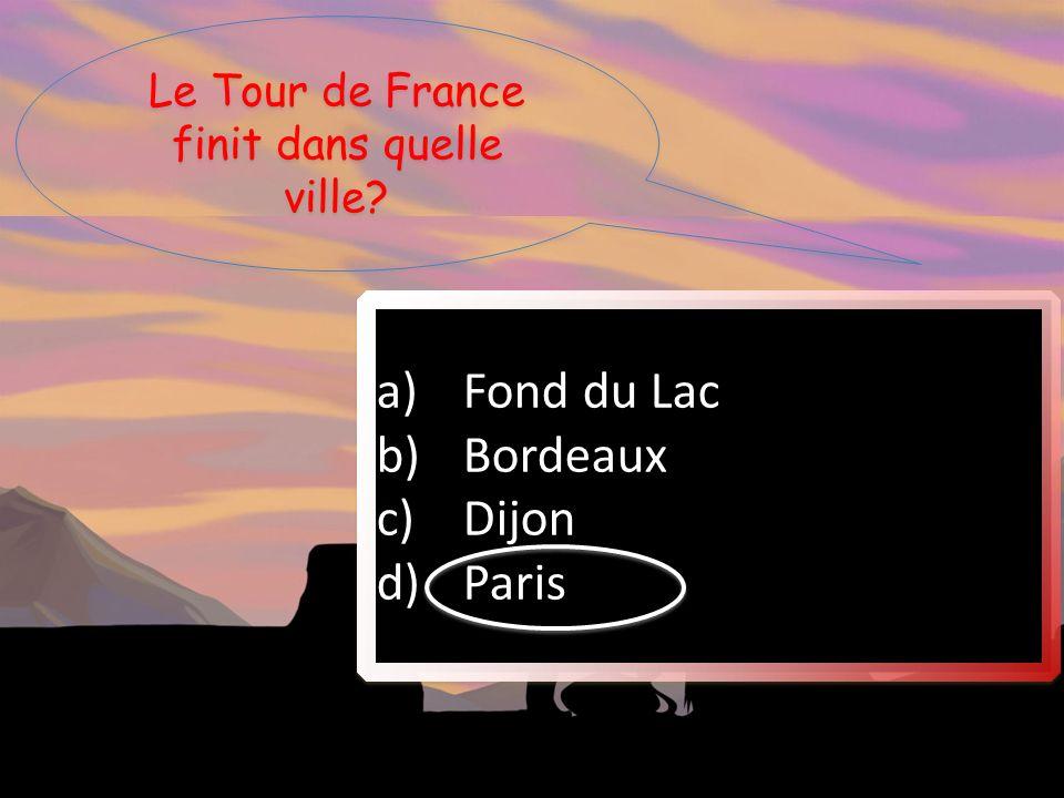 Le Tour de France finit dans quelle ville