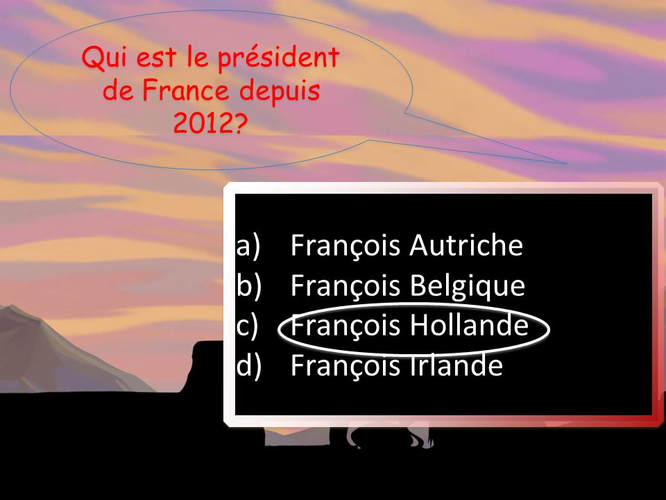 Qui est le président de France depuis 2012