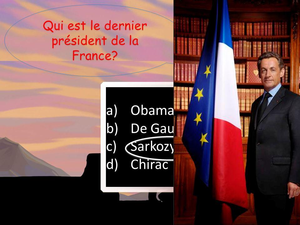 Qui est le dernier président de la France