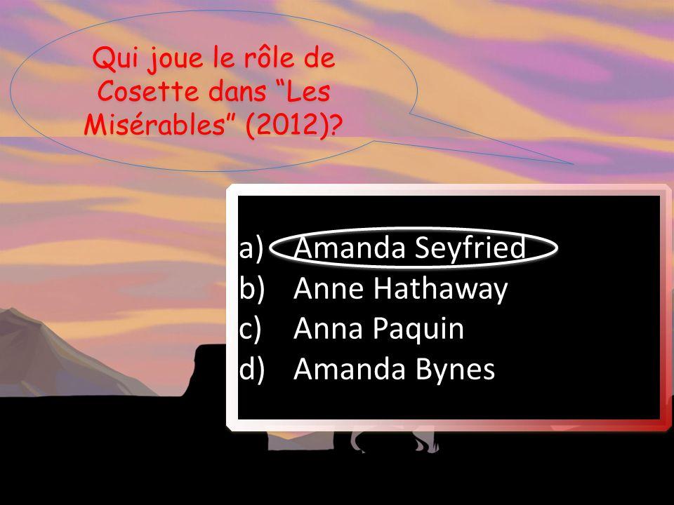 Qui joue le rôle de Cosette dans Les Misérables (2012)