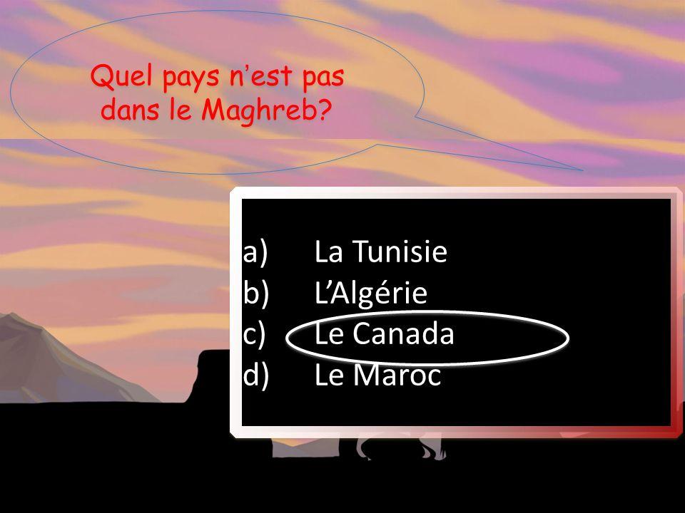 Quel pays n'est pas dans le Maghreb