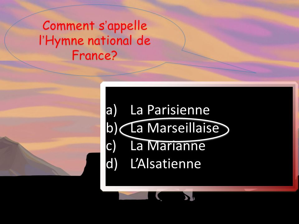 Comment s'appelle l'Hymne national de France