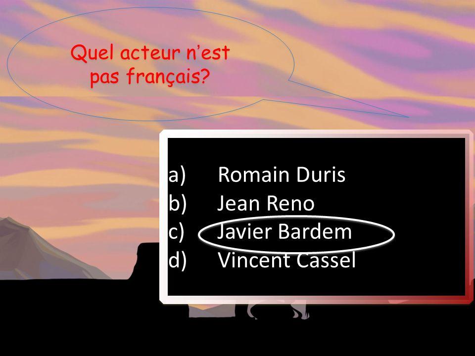 Quel acteur n'est pas français