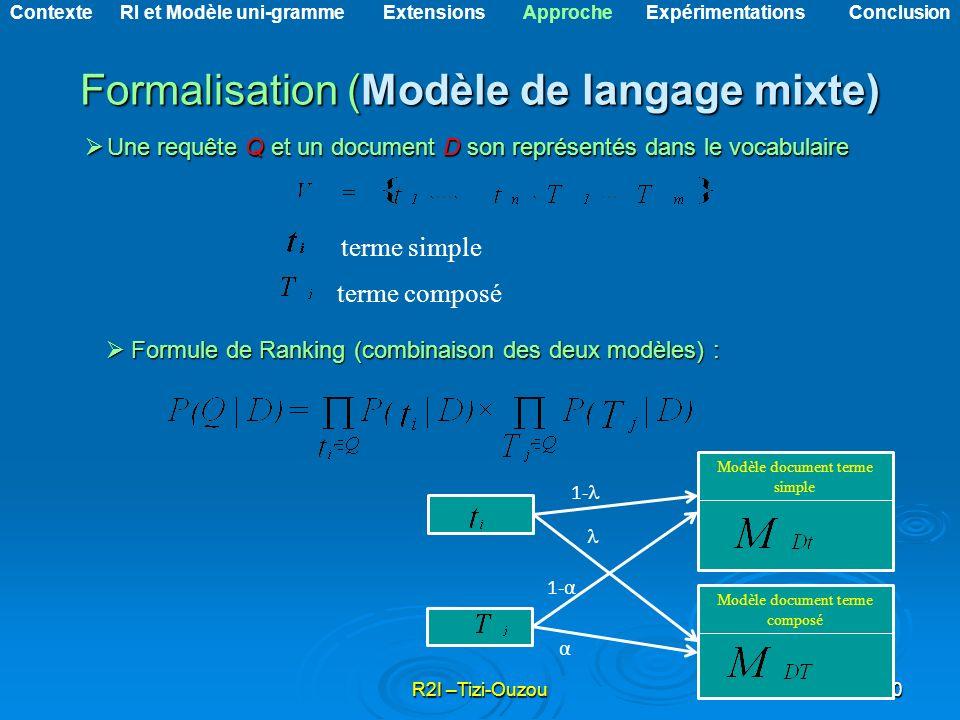 Formalisation (Modèle de langage mixte)