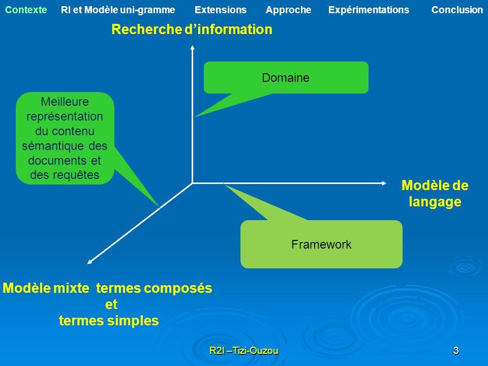 Recherche d'information Modèle mixte termes composés