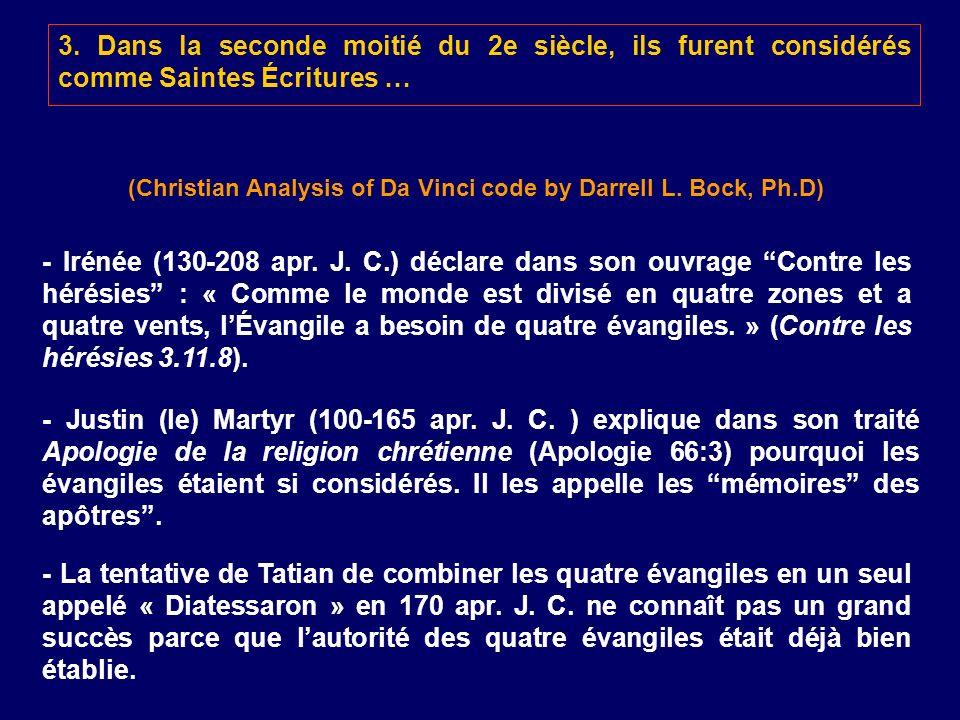 (Christian Analysis of Da Vinci code by Darrell L. Bock, Ph.D)