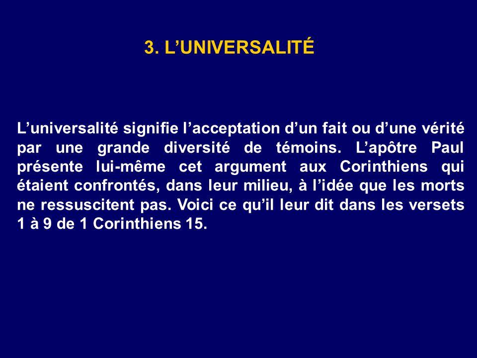 3. L'UNIVERSALITÉ