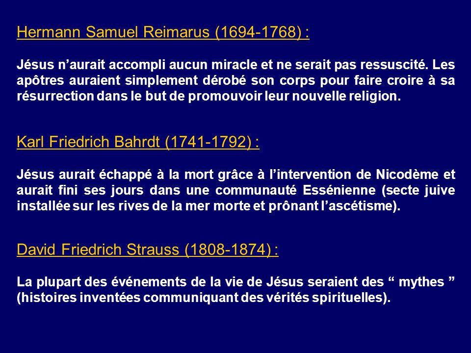 Hermann Samuel Reimarus (1694-1768) :