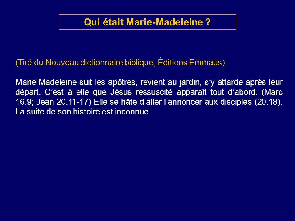 Qui était Marie-Madeleine