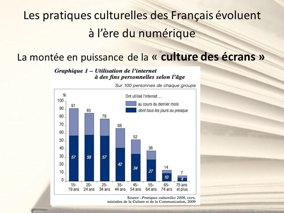 Les pratiques culturelles des Français évoluent