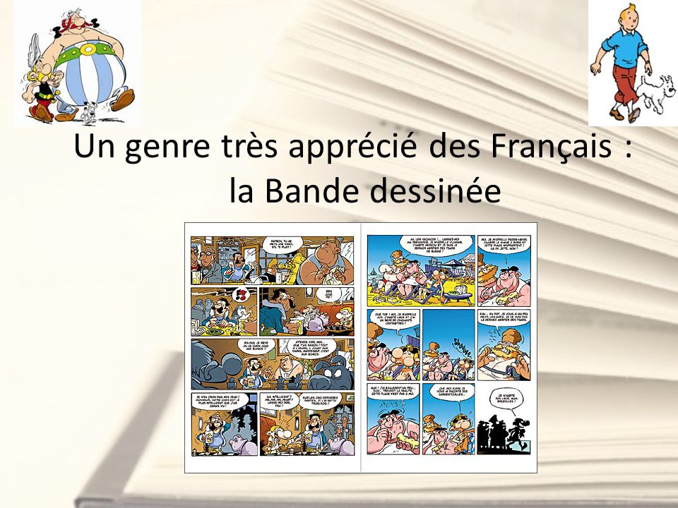 Un genre très apprécié des Français : la Bande dessinée