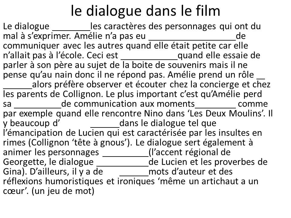 le dialogue dans le film