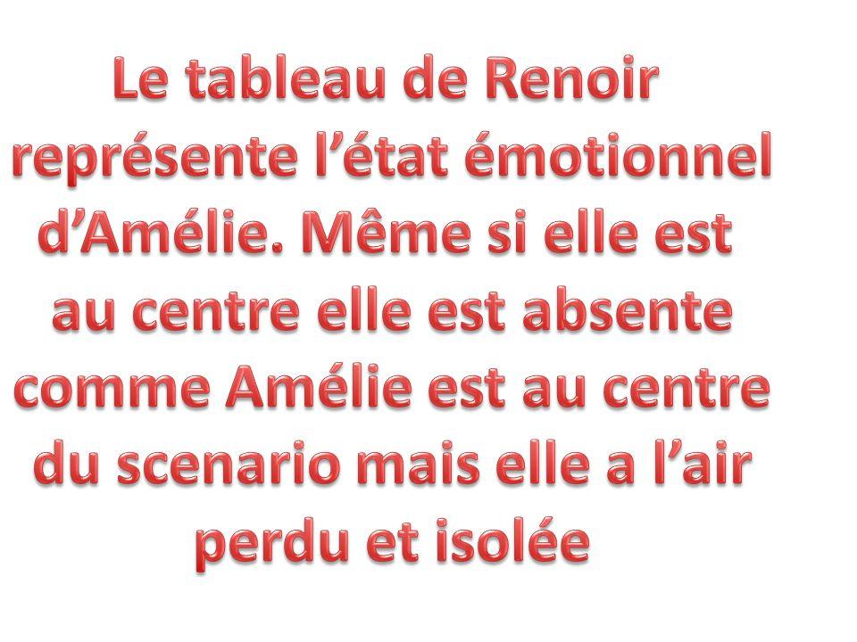 représente l'état émotionnel d'Amélie. Même si elle est