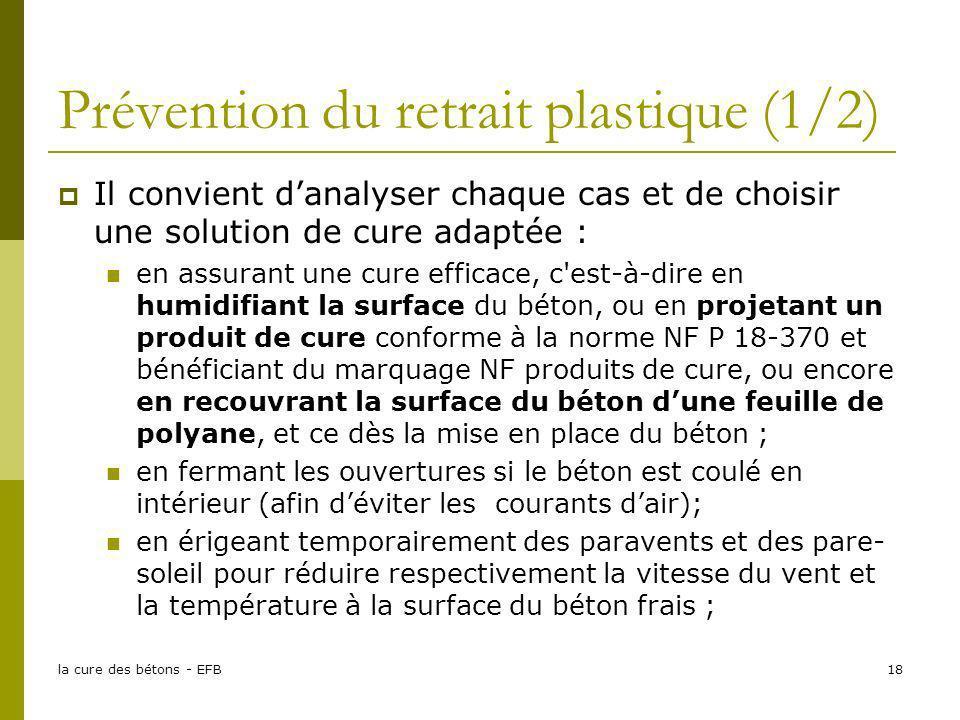 Prévention du retrait plastique (1/2)