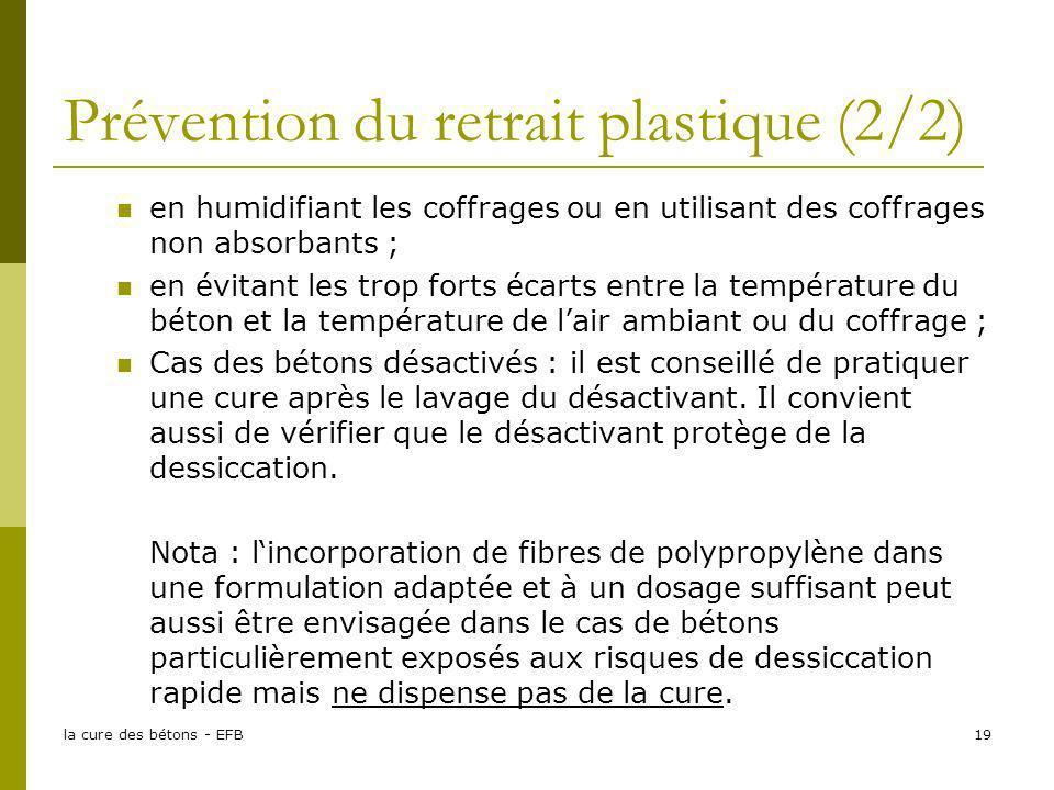 Prévention du retrait plastique (2/2)