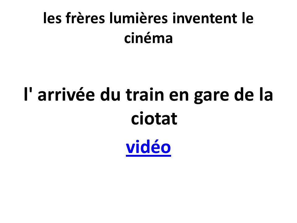 les frères lumières inventent le cinéma