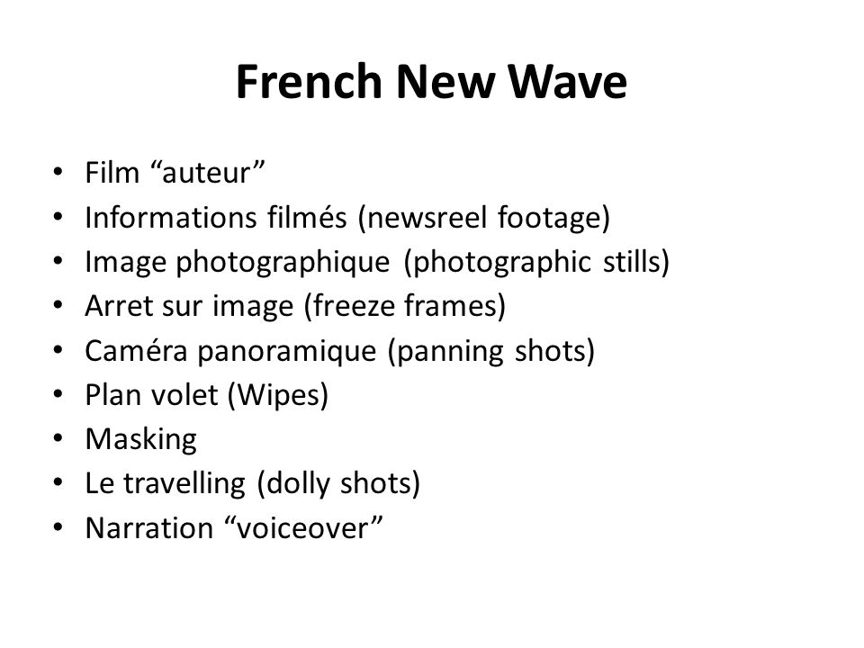 French New Wave Film auteur Informations filmés (newsreel footage)