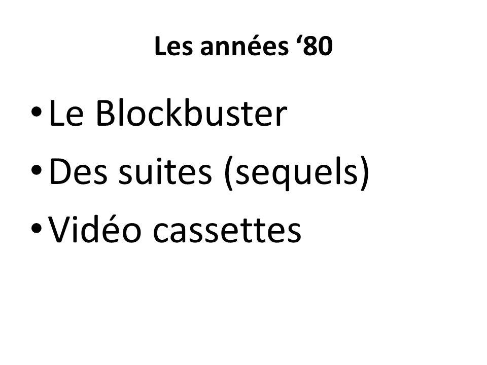 Les années '80 Le Blockbuster Des suites (sequels) Vidéo cassettes