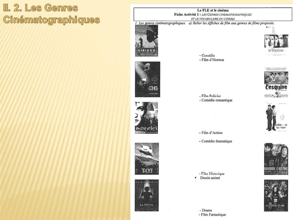 II. 2. Les Genres Cinématographiques