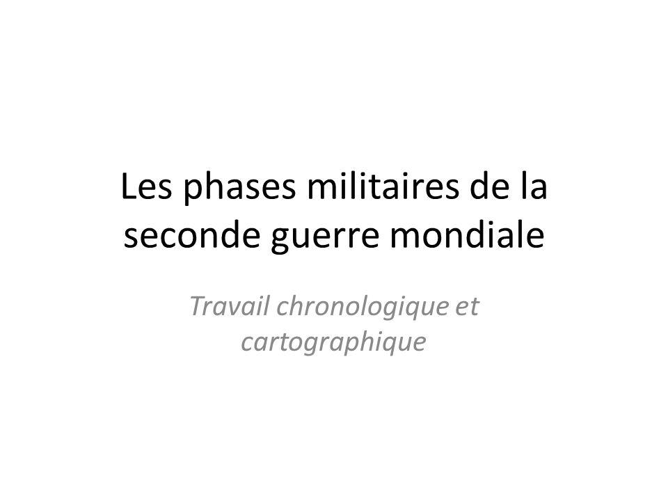 Les phases militaires de la seconde guerre mondiale