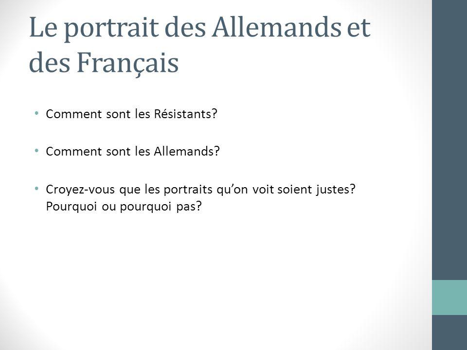 Le portrait des Allemands et des Français