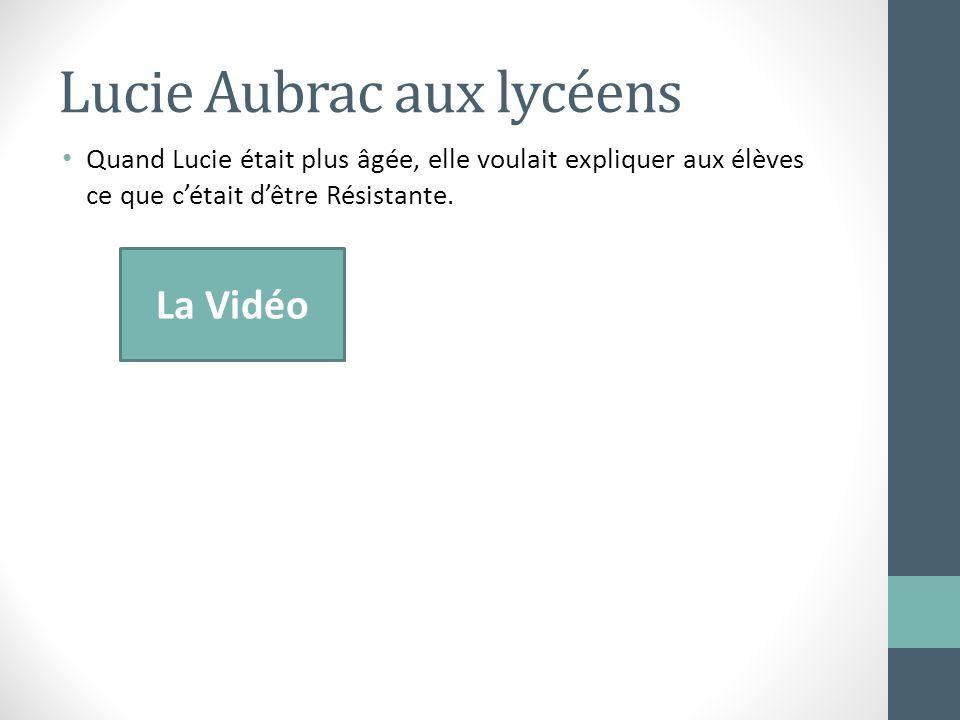 Lucie Aubrac aux lycéens