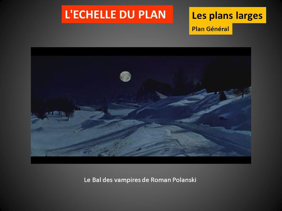 L ECHELLE DU PLAN Les plans larges Plan Général