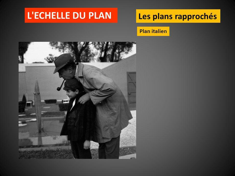L ECHELLE DU PLAN Les plans rapprochés Plan italien