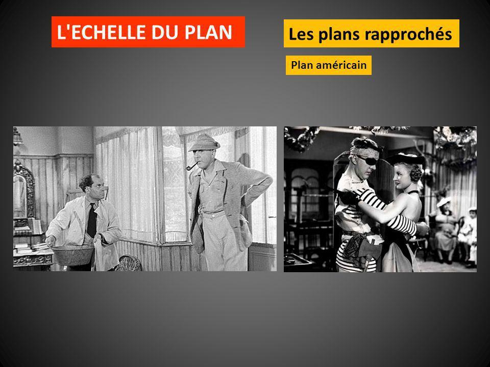 L ECHELLE DU PLAN Les plans rapprochés Plan américain