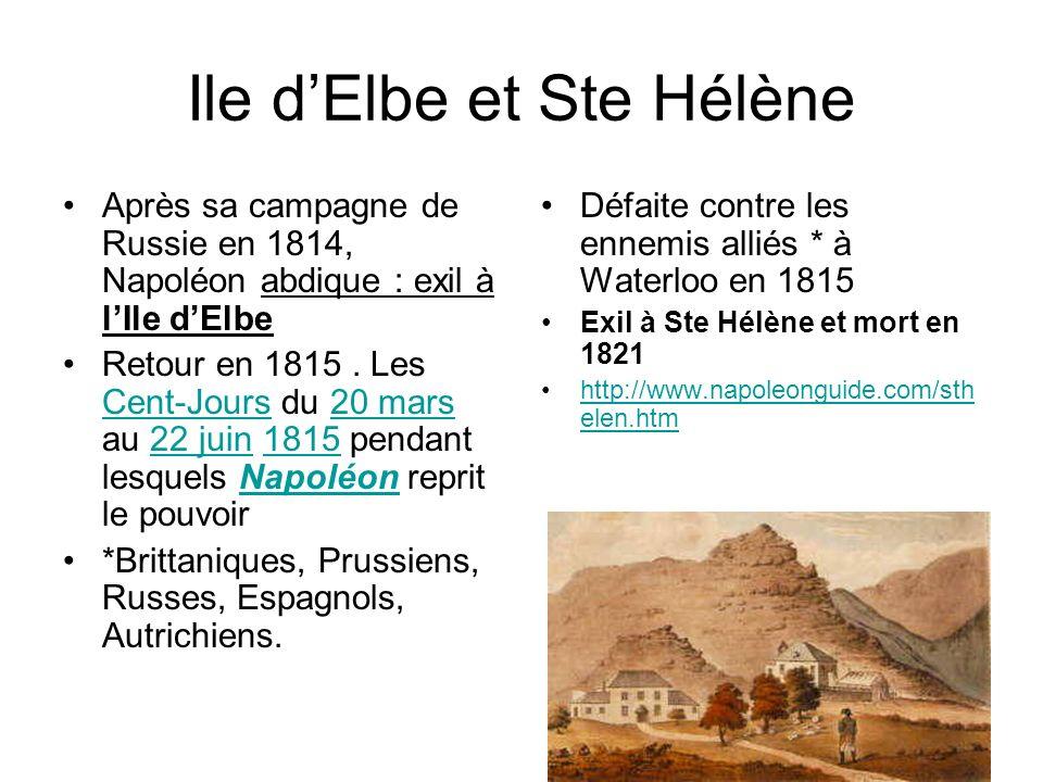 Ile d'Elbe et Ste Hélène
