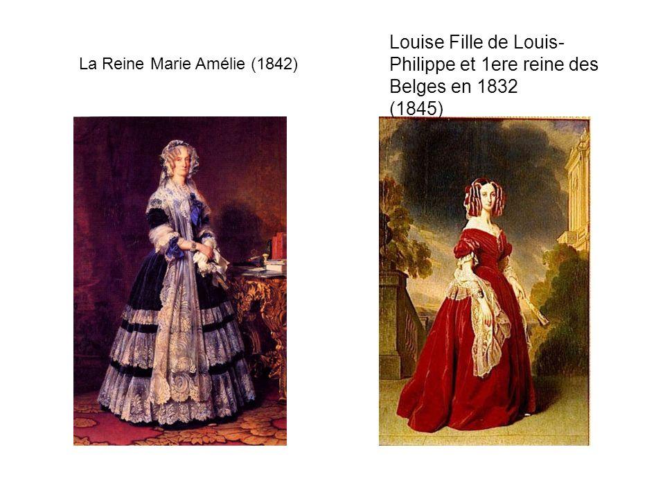 Louise Fille de Louis-Philippe et 1ere reine des Belges en 1832 (1845)