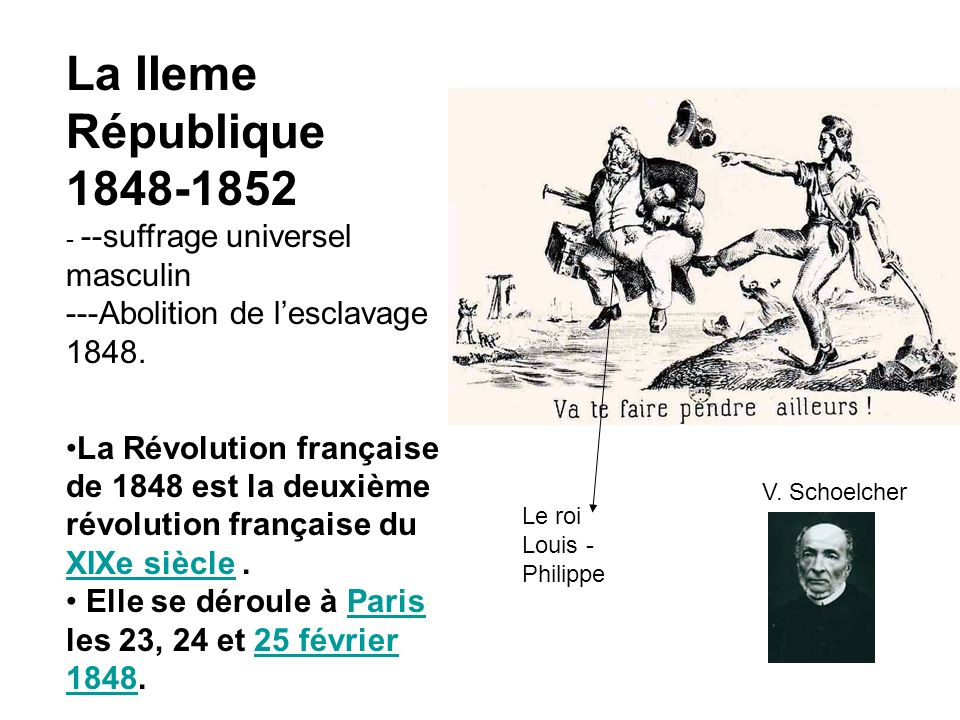 La IIeme République 1848-1852 - --suffrage universel masculin