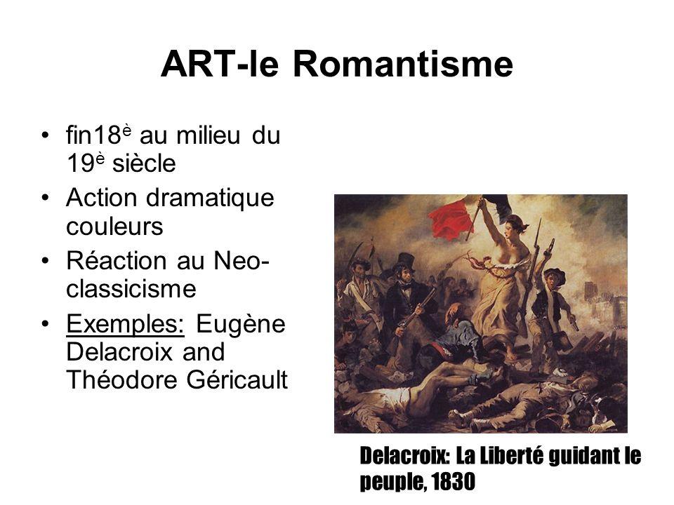 ART-le Romantisme fin18è au milieu du 19è siècle