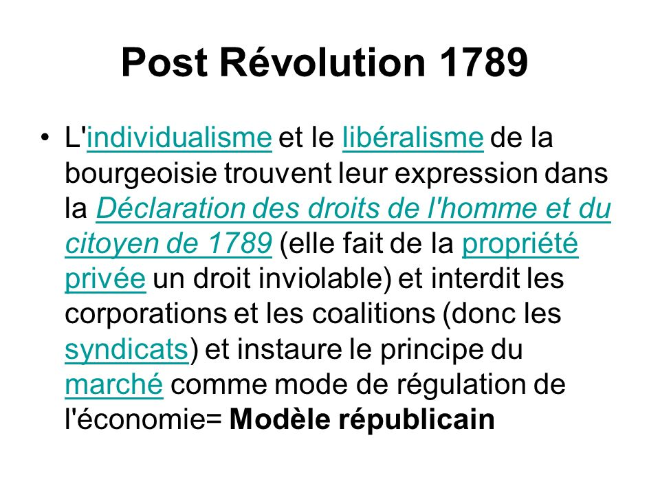 Post Révolution 1789