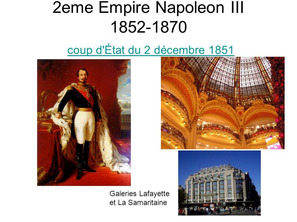 2eme Empire Napoleon III 1852-1870 coup d État du 2 décembre 1851