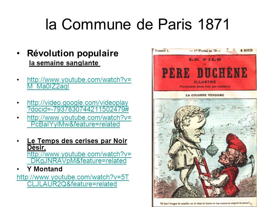 la Commune de Paris 1871 Révolution populaire la semaine sanglante