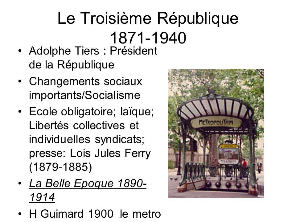 Le Troisième République 1871-1940