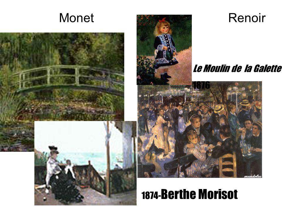 Monet Renoir Le Moulin de la Galette 1876 1874-Berthe Morisot