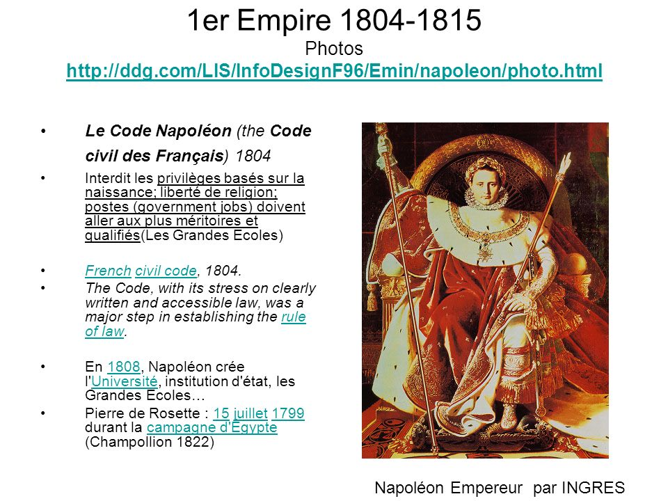 1er Empire 1804-1815 Photos http://ddg