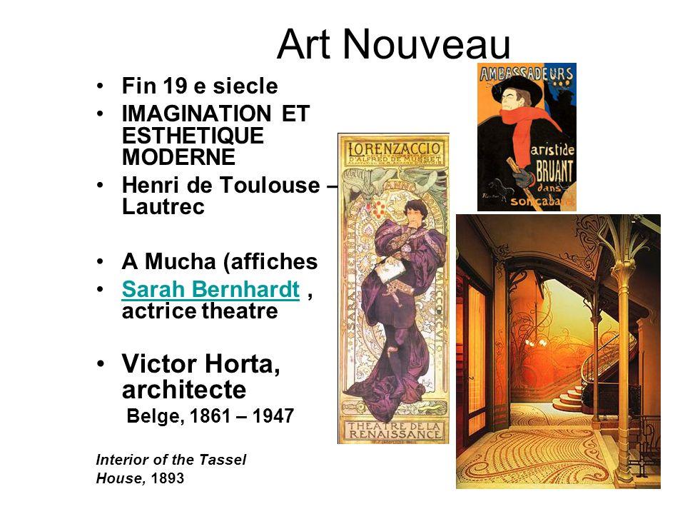 Art Nouveau Victor Horta, architecte Fin 19 e siecle
