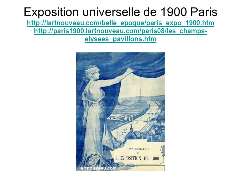 Exposition universelle de 1900 Paris http://lartnouveau