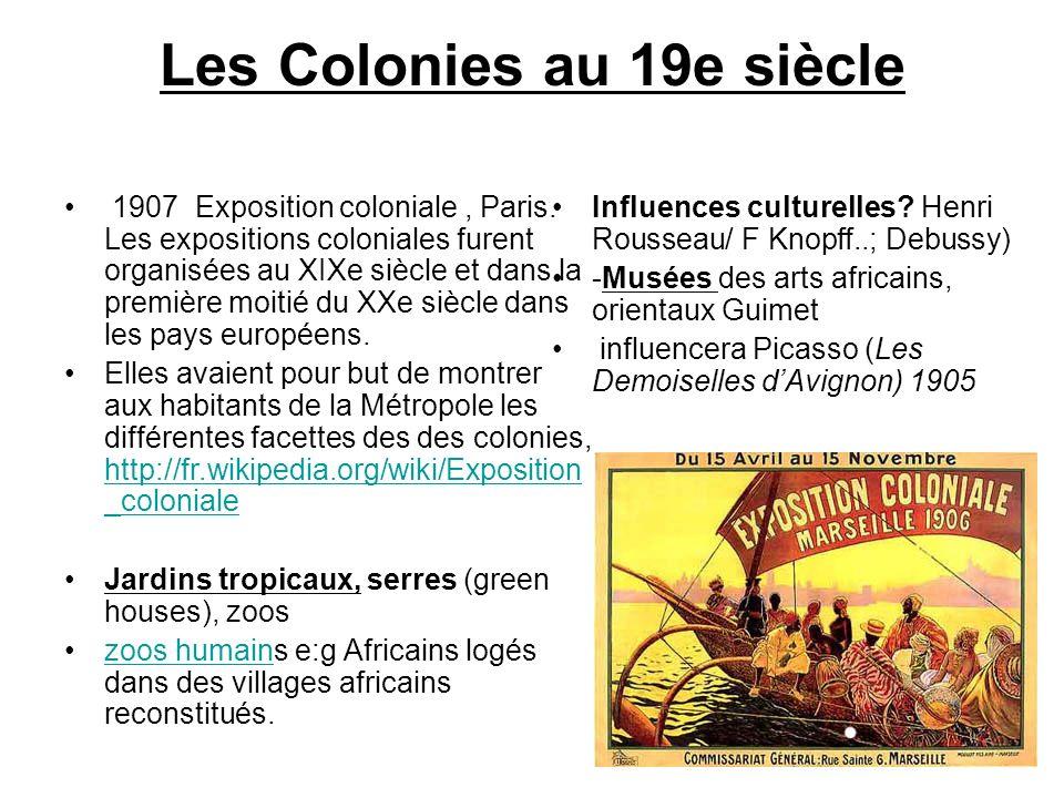 Les Colonies au 19e siècle