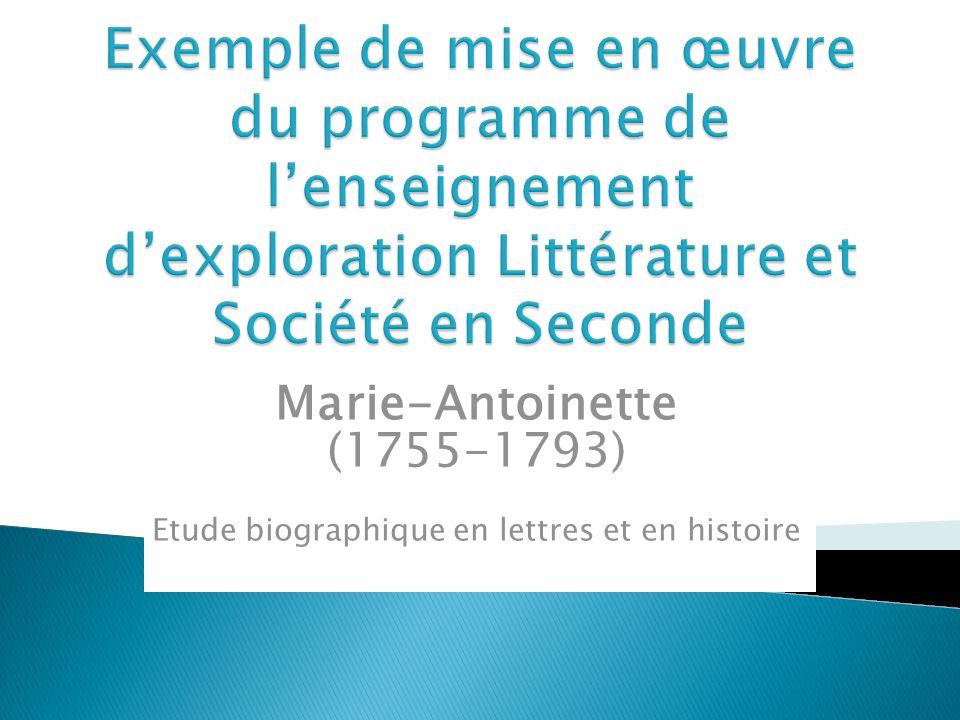 Etude biographique en lettres et en histoire