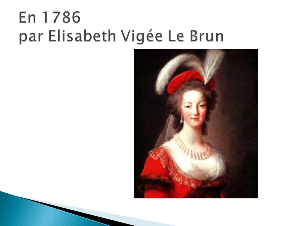 En 1786 par Elisabeth Vigée Le Brun
