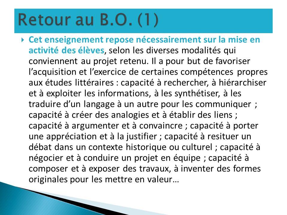 Retour au B.O. (1)
