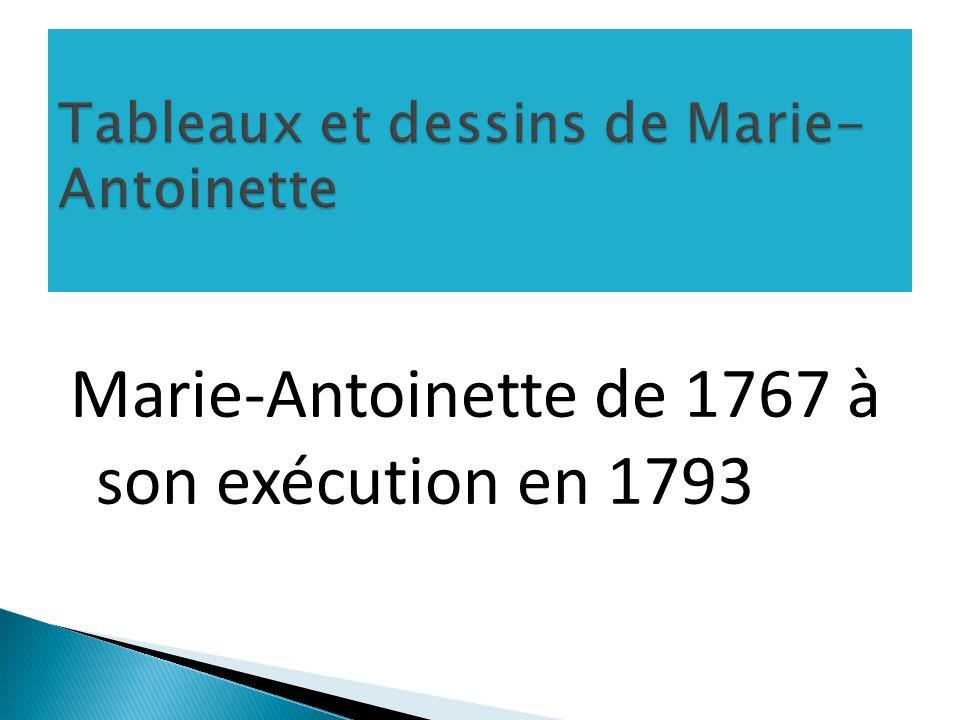 Tableaux et dessins de Marie-Antoinette