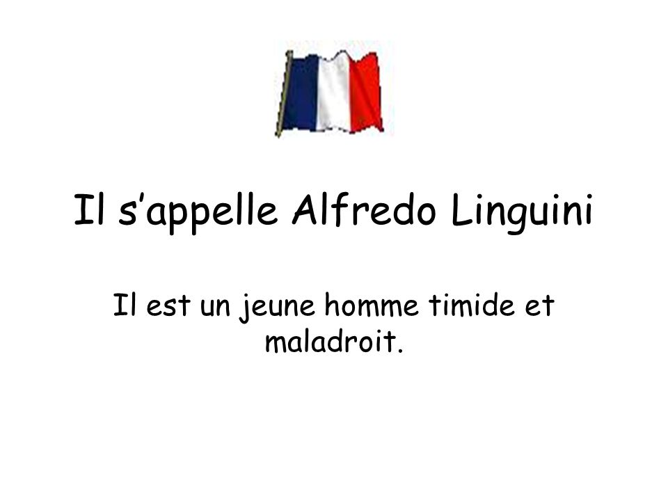 Il s'appelle Alfredo Linguini