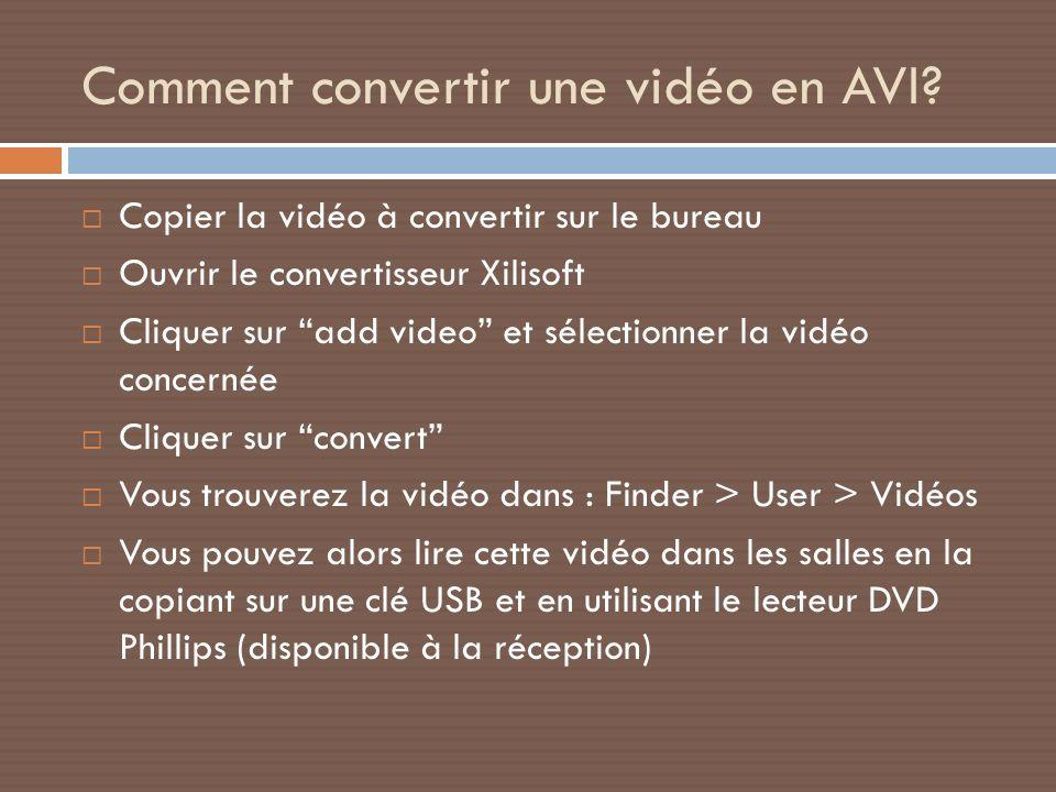 Comment convertir une vidéo en AVI