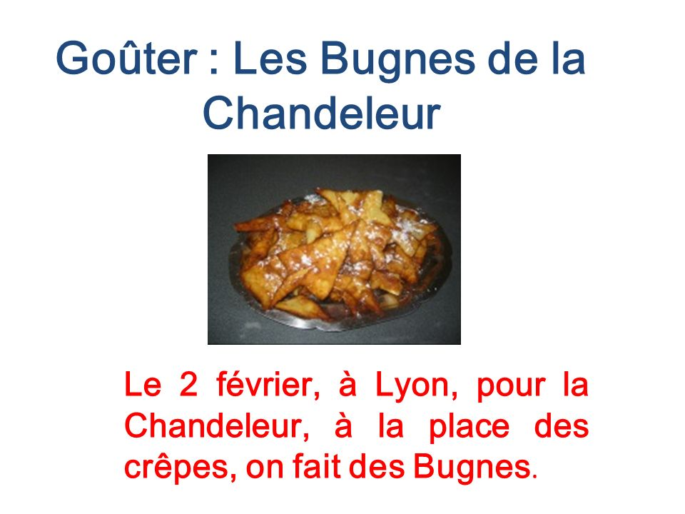 Goûter : Les Bugnes de la Chandeleur