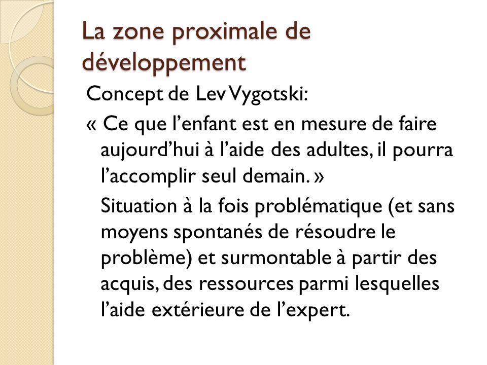 La zone proximale de développement